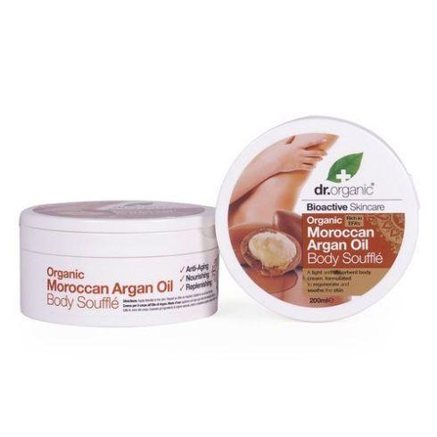 Dr Organic Moroccan Argan Oil Body Soufflé, 200ml tub, £9.29