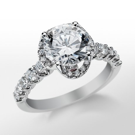 Monique Lhuillier Draping Halo Engagement Ring_$2750