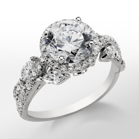Monique Lhuillier Floral Halo Engagement Ring_$4550