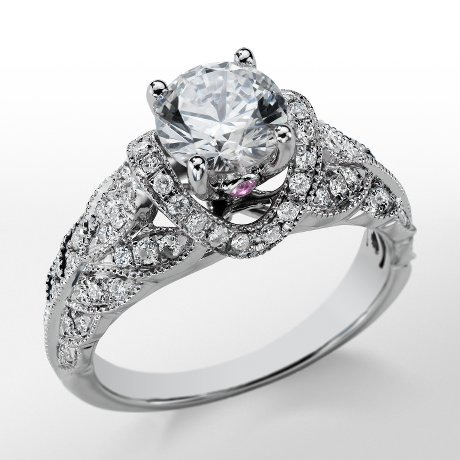 Monique Lhuillier Heirloom Diamond Engagement Ring_$3750
