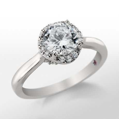 Monique Lhuillier Petite Draping Halo Engagement Ring_$1800
