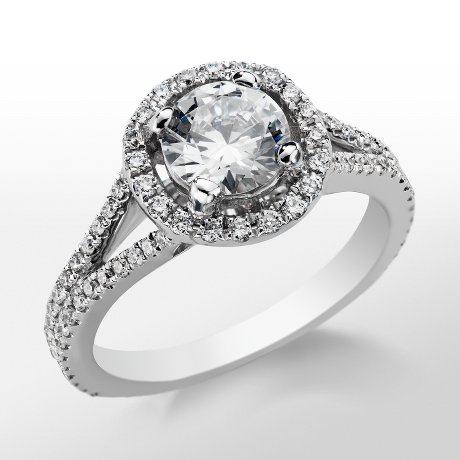 Monique Lhuillier Split Shank Halo Engagement Ring_$2655