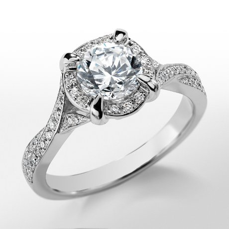 Monique Lhuillier Twist Shank Engagement Ring_$2300