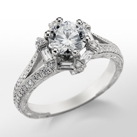 Monique Lhuillier Vintage Hexagon Engagement Ring_$2945